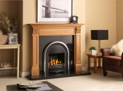 Valor Airflame Bloomsbury Gas Fire - Black/Silver