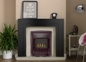 Valor Homeflame Excelsior Slimline Gas Fire - Black Nickel