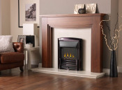 Valor Homeflame Masquerade Slimline Gas Fire - Black Nickel