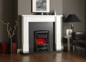 Valor Dimension Excelsior Slimline Electric Fire - Black Nickel