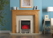 Valor Dimension Excelsior Slimline Electric Fire - Pale Gold