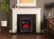 Valor Dimension Masquerade Slimline Electric Fire - Black Nickel