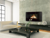 Celsi Curved Puraflame Wall Mounted LCD Electric Fire