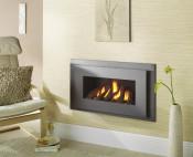 Crystal Miami HE Log Gas Fire - Grey W/ Black Interior