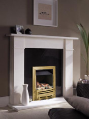 ekofires 3060 Pebble Manual Control Gas Fire - Brass Mono Fret/Brass Classic Inlay