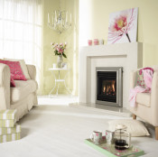 Valor Homeflame Harmony Gas Fire Full Depth in Silver