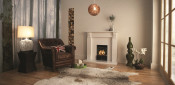 Valor Majestic Black Coal Manual Control Decorative Gas Fire