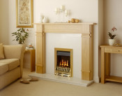 Valor Blenheim Slimline Manual Control Gas Fire in Brass