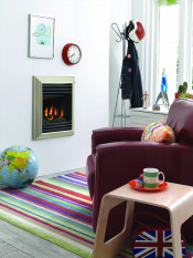 Valor Homeflame Harmony Gas Fire Full Depth in Champagne