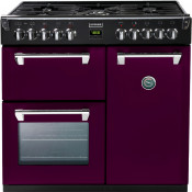 Stoves 444441277 Richmond 900DFT Dual Fuel Range Cooker - Wild Berry