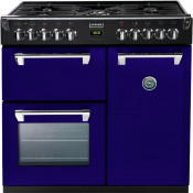 Stoves 444441282 Richmond 900DFT 90cm Dual Fuel Range Cooker - Midnight Gaze