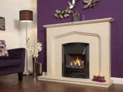 Flavel Decadence Plus Remote Control Gas Fire - Black Nickel