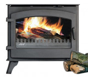 Aga Shawbury DEFRA Approved Wood Burning Stove - Matte Black