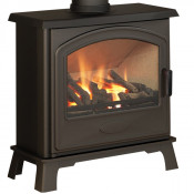 Broseley Hereford Gas Stove - Matte Black