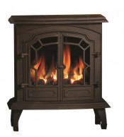 Broseley Lincoln Gas Stove - Matte Black
