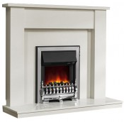 Be Modern 149799 Elda 48 Inch Fireplace - White Micro Marble