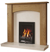 Be Modern Darwin Surround W/ Marble Fireplace - Natural Oak/Manila