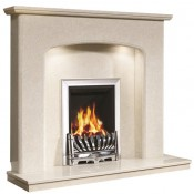 Be Modern Viola Fireplace with Lights - Manila Micro Marble