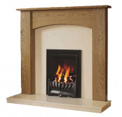 Be Modern Darwin 48 Inch Surround W/ Marble Fireplace - Natural Oak/Marfil