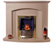 Trueflame 48 Inch Thrilmere Micro Marble Fireplace - Mocha Beige