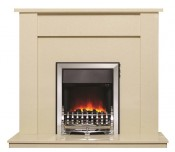 Be Modern 149780 Elda 48 Inch Fireplace - Marfil Micro Marble