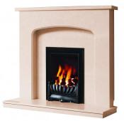 Be Modern Tasmin Fireplace - Marfil Micro Marble