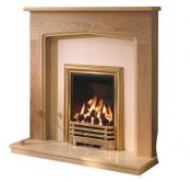 Be Modern Tudor 48 Inch Surround W/ Marble Fireplace - Natural Oak/Manila