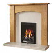 Be Modern Darwin 48 Inch Surround W/ Marble Fireplace - Golden Oak/Manila