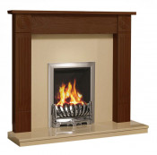 Be Modern 48 Inch Lewiston Surround W/ Marble Fireplace - Warm Oak/Marfil
