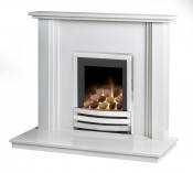 Caterham Nevada 38 Inch Fireplace - Carrara White