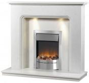 Caterham Turin 48 Inch Fireplace - Branco Veios