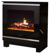 Celsi Purastove Glass 2 Electric Stove - Black Glass