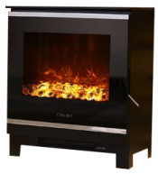 Celsi Electristove XD Glass 2 Stove - Black Glass