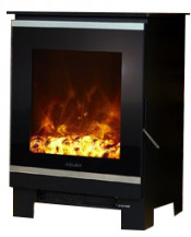 Celsi Electristove XD Glass 1 Stove - Black Glass