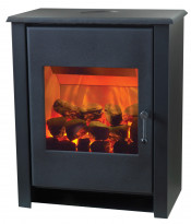 Flamerite Essence Little Atom Electric Stove - Matte Black