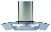 CDA ECP72SS 70cm Chimney Cooker Hood - Stainless Steel/Glass