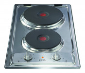 CDA HCE340SS Domino 2 Plate Electric Hob in Stainless Steel
