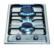 CDA HCG301SS 2 Burner Domino Gas Hob - Stainless Steel