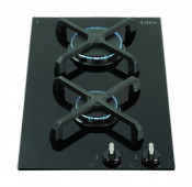 CDA HG3602FR 2 Burner Gas Domino Hob - Black