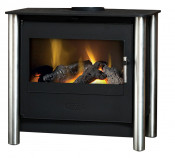 Esse 200 Remote Control Contemporary Gas Stove - Stainless Steel Legs