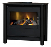 Esse 200 Remote Control Contemporary Gas Stove - Black Legs