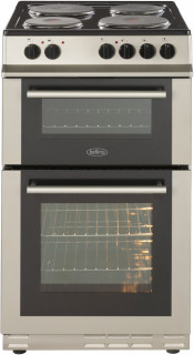 Belling FS50EFDO Electric Double Oven Cooker - Silver