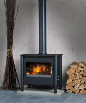 Esse 200 XK Contemporary DEFRA Approved Multifuel Stove - Black Legs