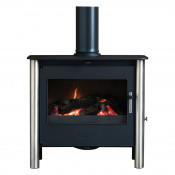 Esse 200 XK Contemporary Multifuel Stove - Stainless Steel Legs