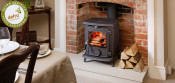 Aga Little Wenlock Classic DEFRA Approved Wood Burning Stove - Matte Black