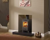 Broseley Silverdale 5 DEFRA Approved Wood Burning Stove - Matte Black