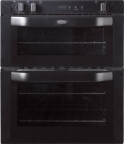 Belling BI70FP Double Built Under Electric Oven - Black