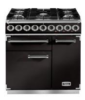 Falcon F900DXDFBL/BG 900 Deluxe Dual Fuel Range Cooker - Black