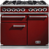 Falcon F1000DXDFRD/NM 1000 Deluxe Dual Fuel Range Cooker - Cherry Red