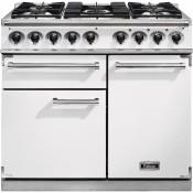 Falcon F1000DXDFWH/NM 1000 Deluxe Dual Fuel Range Cooker - White